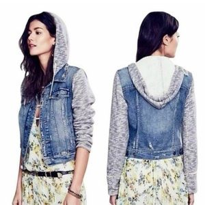 Free people hooded jean jacket